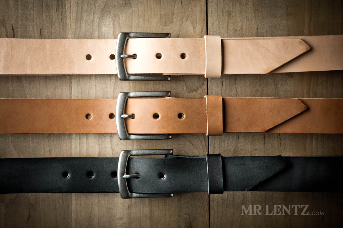 leather belt color choices
