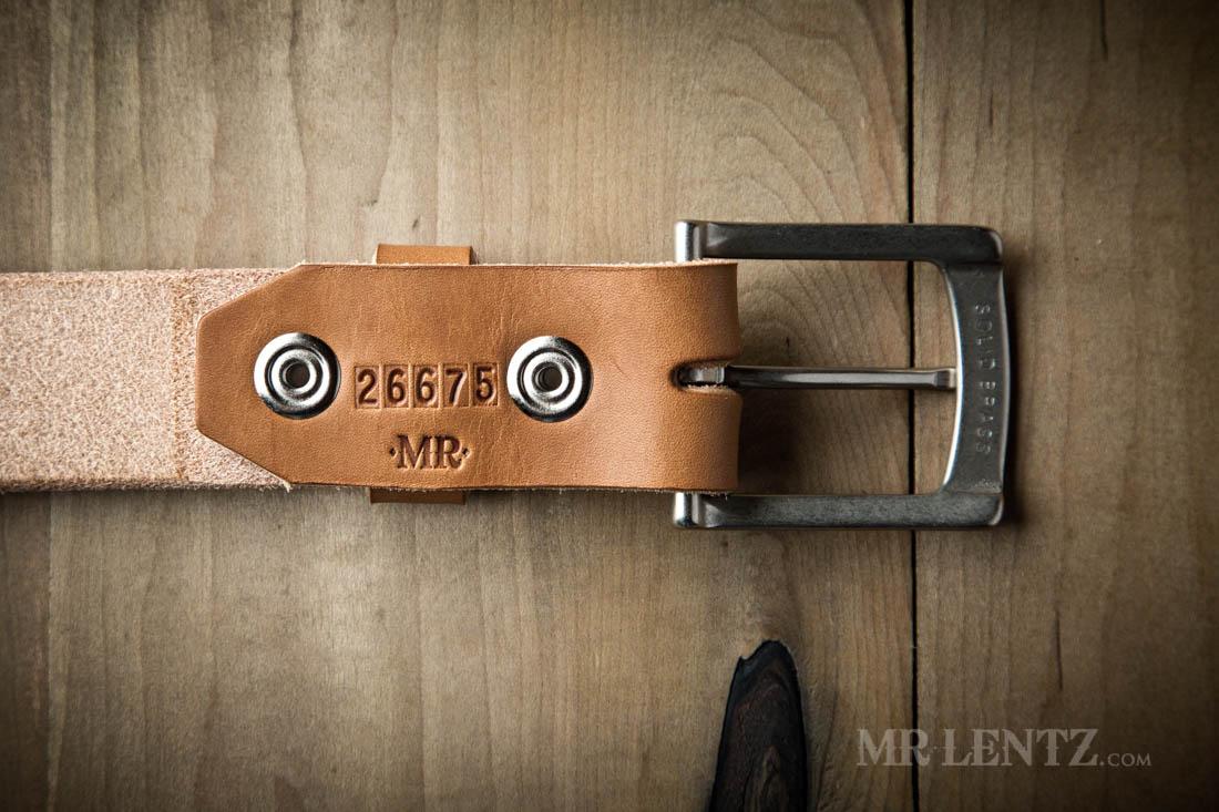 back of leather belt