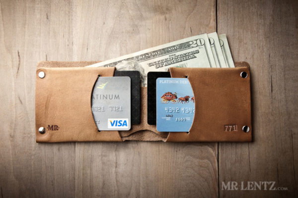 mens leather wallet minimal traditional style