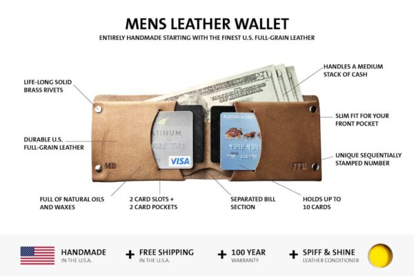 features of the mens leather wallet