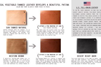 Color options for leather goods