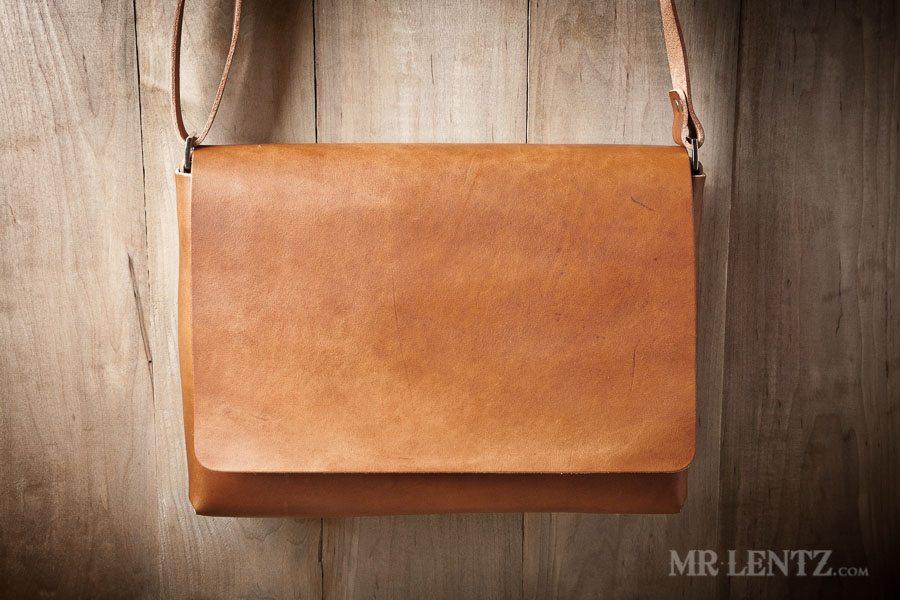 Leather Messenger Bag - Mens Messenger Bag | Mr. Lentz Shop