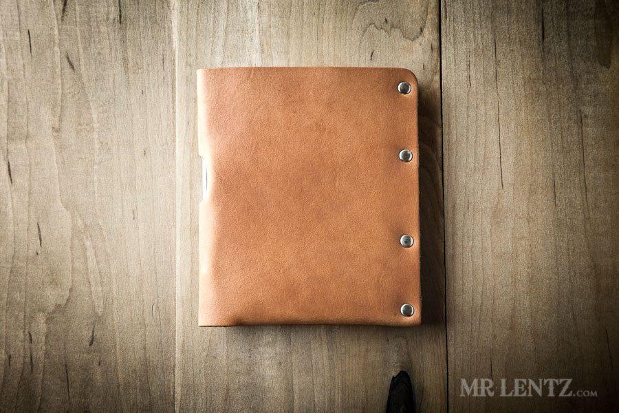 Brown leather passport wallet