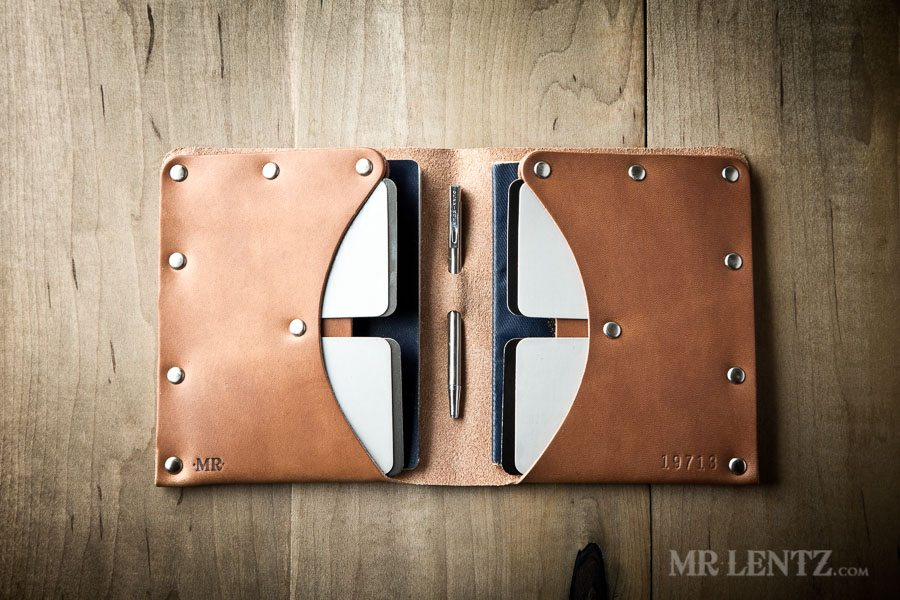 leather passport wallet for two