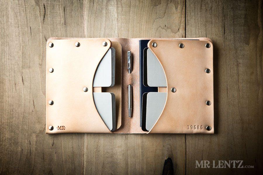 tan leather passport wallet