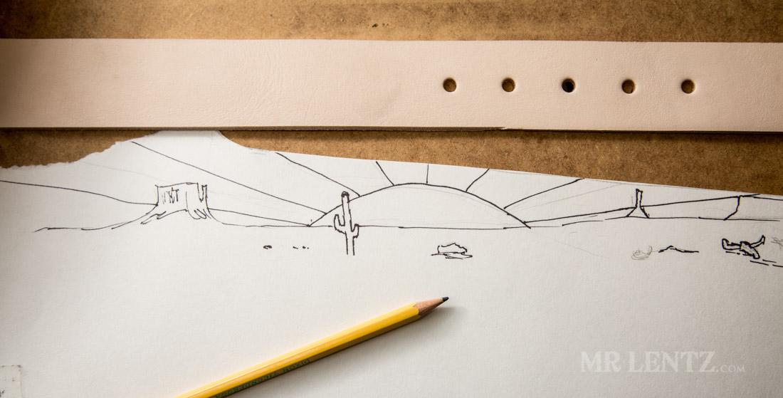 stamped belt design