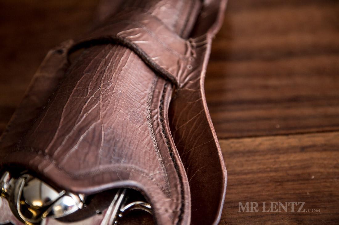 aged cowboy gun holster