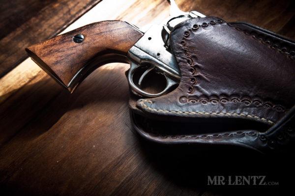 cowboy gun holster aged leather