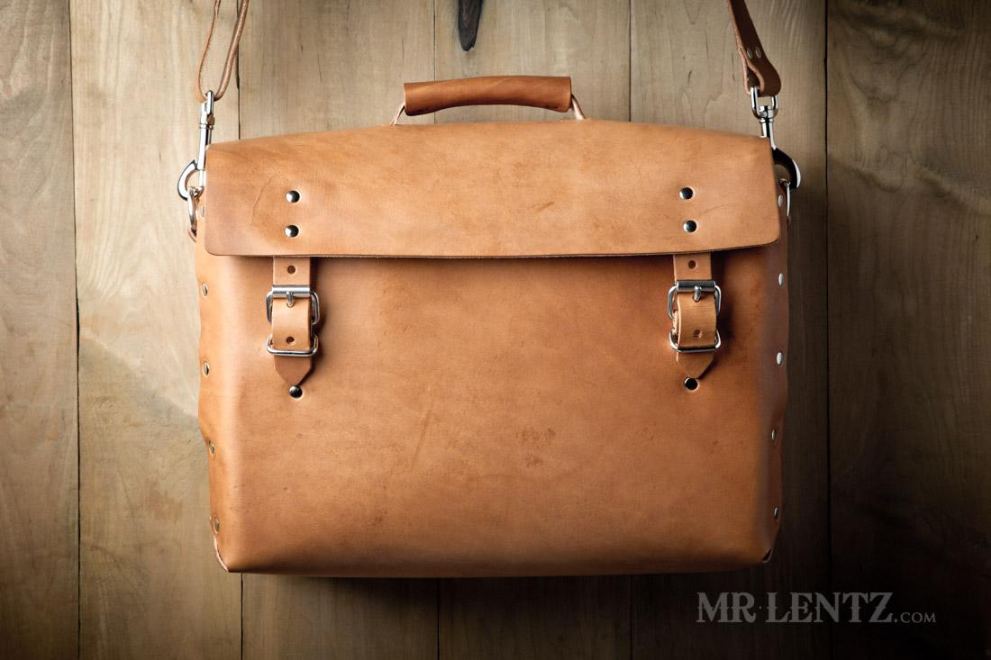 68523e05e578 Mens Leather Work Bag - Leather Briefcase | Mr. Lentz Shop