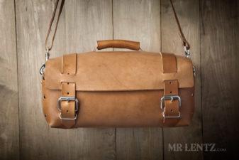 mens leather duffel bag by mr. lentz