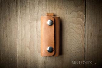 leather key wrap brown