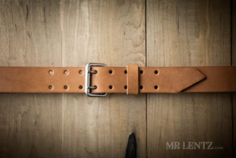 brown double tongue wide belt