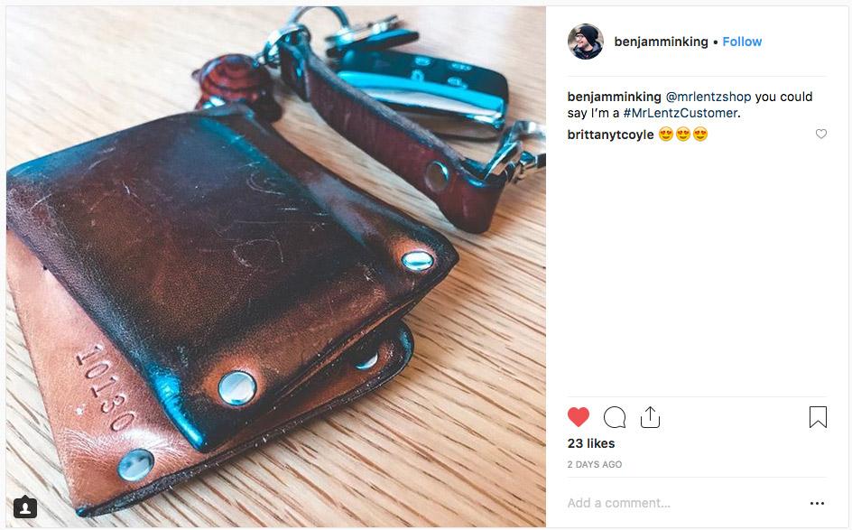 Customer shot of mr lentz wallet