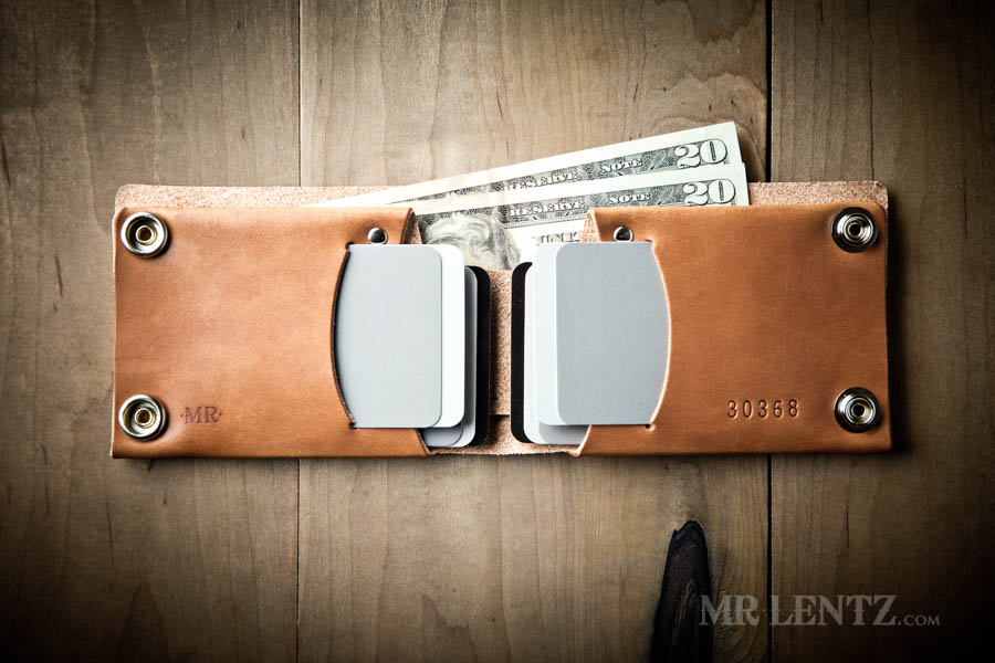 mens leather wallet with snap closure