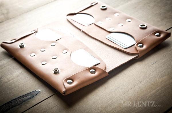 brown phone clutch