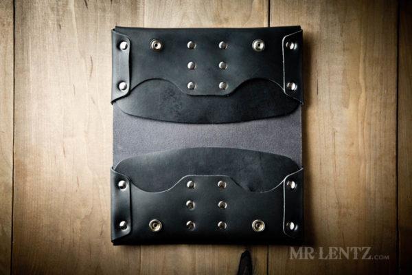 interior black phone clutch