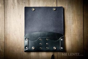 interior black phone purse