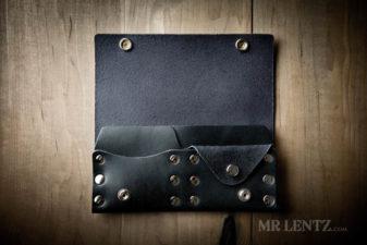 black leather wallet for women