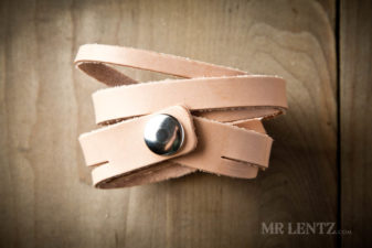 tan split wrap cuff