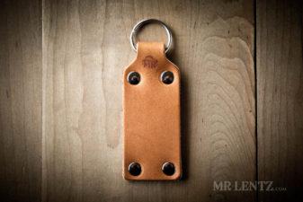 handmade leather key ring
