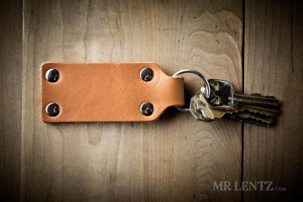 leather key ring keychain