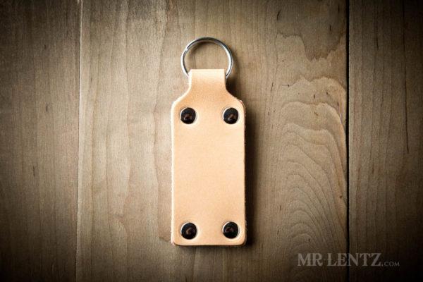 tan leather key ring
