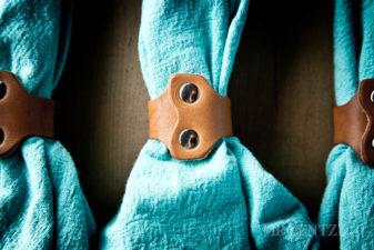 riveted napkin rings