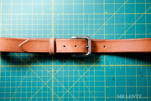 leather belt tutorial