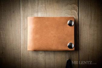 womens brown snap wallet