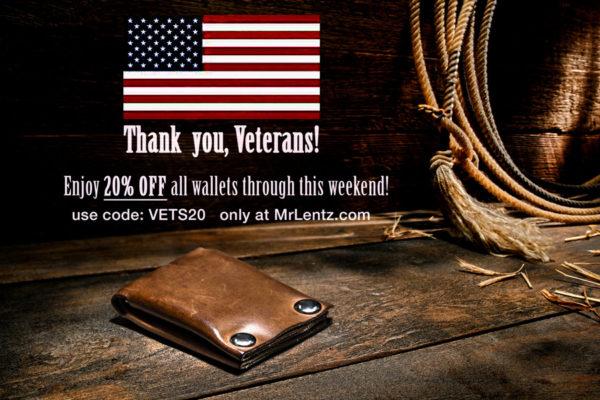 veterans day wallet sale