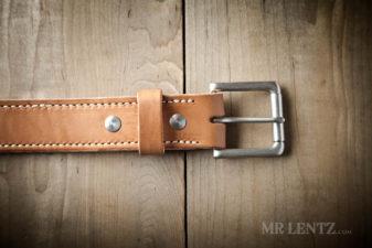 roller buckle on thick gun belt