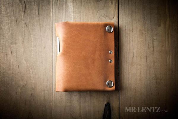 secure travel wallet in brown