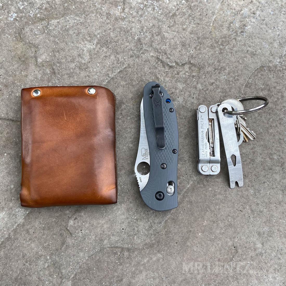 pocket dump leather wallet customer photo